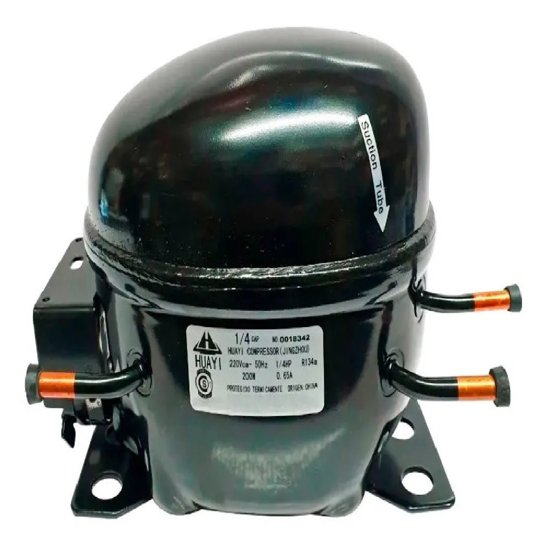 MOTOCOMPRESOR HUAYI 1/4 HP R134 DUAL R12 BLEND E70HB5   AE1370DBX
