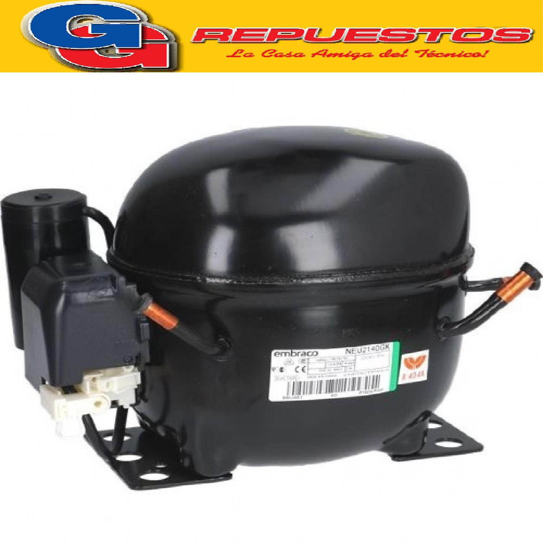 MOTOCOMPRESOR EMBRACO ASPERA 1/2 HP R404A- LBP- NEU- 2140GK COMERCIAL