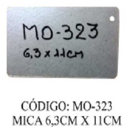 MICA PARA MICROONDAS 11 X 6.5 CM 1 AGUJERO