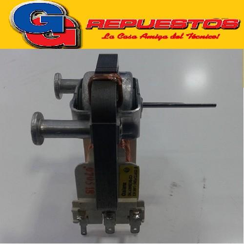 MOTOR VENTILADOR MICROONDAS EJE MEDIA CAÑA LARGO FORZADOR (LARGO EJE 35mm / DIAMETRO EJE 2.5mm) MO510 220V 0.20 A 44W