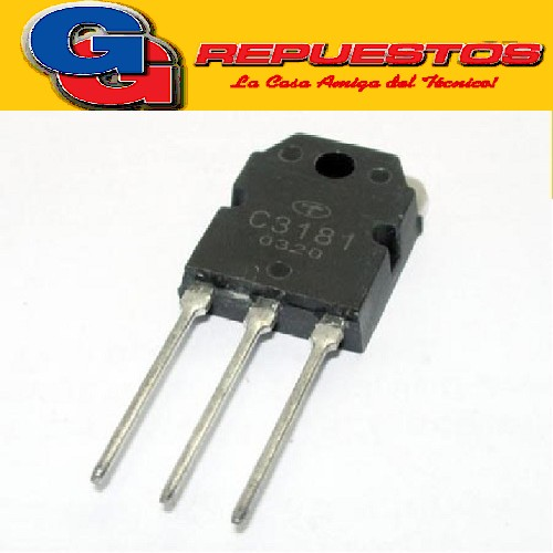 2SC3181 TRANSISTOR NPN (120V/8A/80W) ((COMPLEMENTARIO 2SA1264))