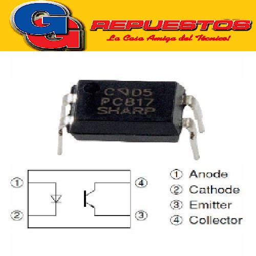 OPTO ELECTRONICA PC817 OPTOACOPLADOR EL817