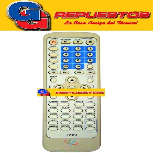 CONTROL REMOTO DVD ENCORE