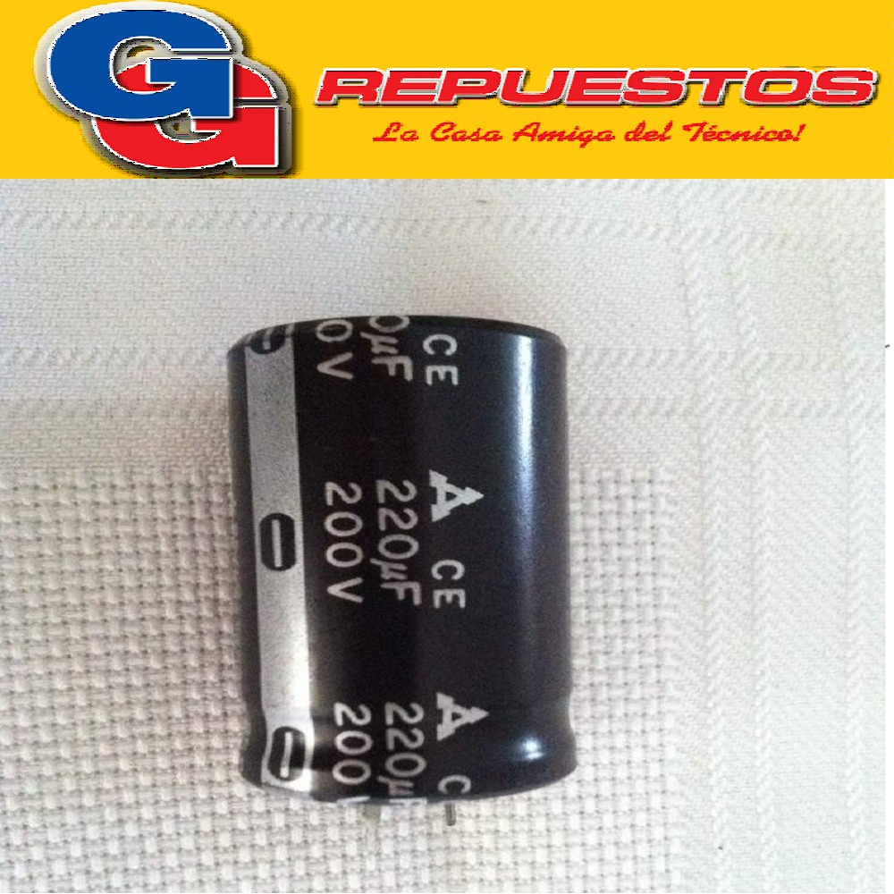 CAPACITOR ELECTROLITICO 220uFX200V BLINDADO