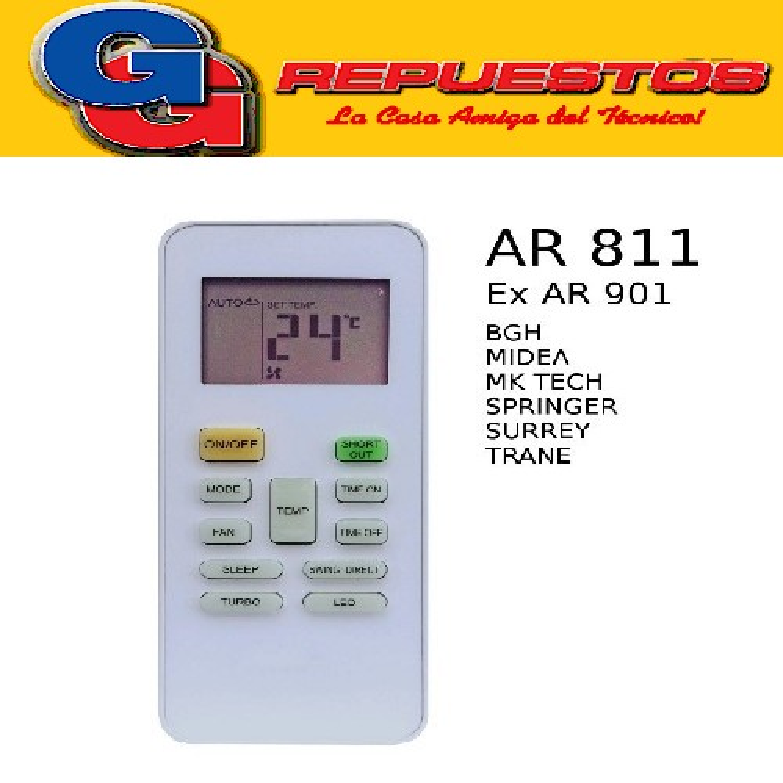 CONTROL REMOTO AIRE ACONDICIONADO SPLIT SURREY RG52B/BGE RG01/BGCRF