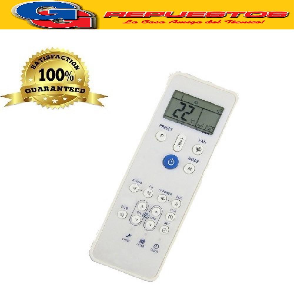 CONTROL REMOTO AIRE ACONDICIONADO SPLIT CARRIER FEDDERS A442