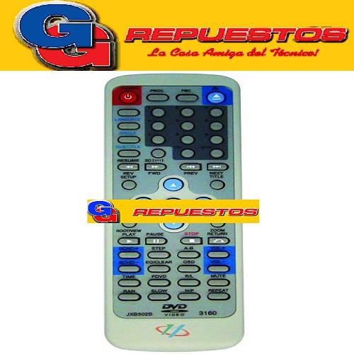 CONTROL REMOTO DVD VOXON XVIEW SOLTECH (3160) JXB502B