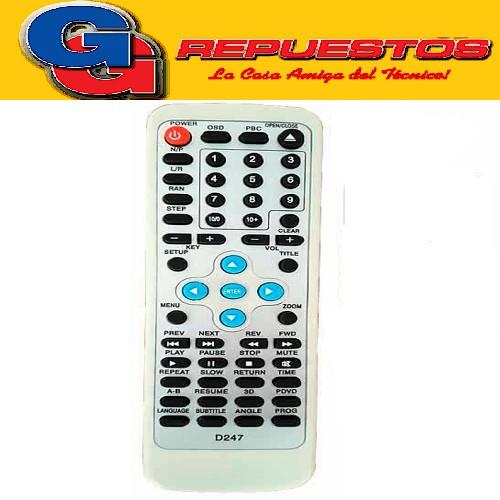 CONTROL REMOTO DVD NUEVO FST 3532 DURABRAND DB-1500