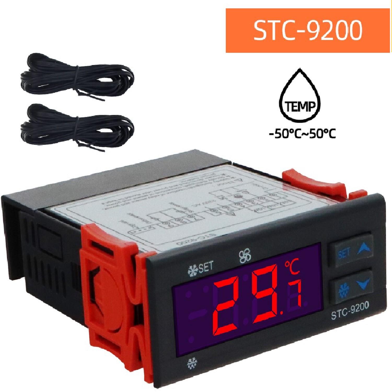 COMBISTATO STC-9200 CONTROL ELECTRONICO PROGRAMABLE C/2 SONDAS. REFRIG. DEFROST. VENTILADOR. -50 + 50 ºC P/ NO  FROST