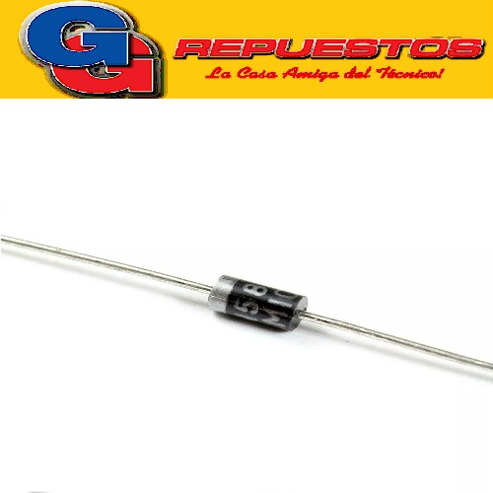 DIODO 1N4005 600 VOLT 1 AMPER RECTIFICADOR