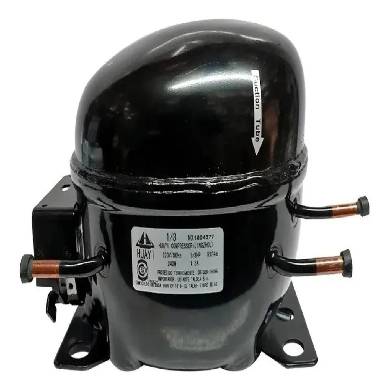 MOTOCOMPRESOR HUAYI 1/3 HP R134 R12 AE1390DBX E86HB5