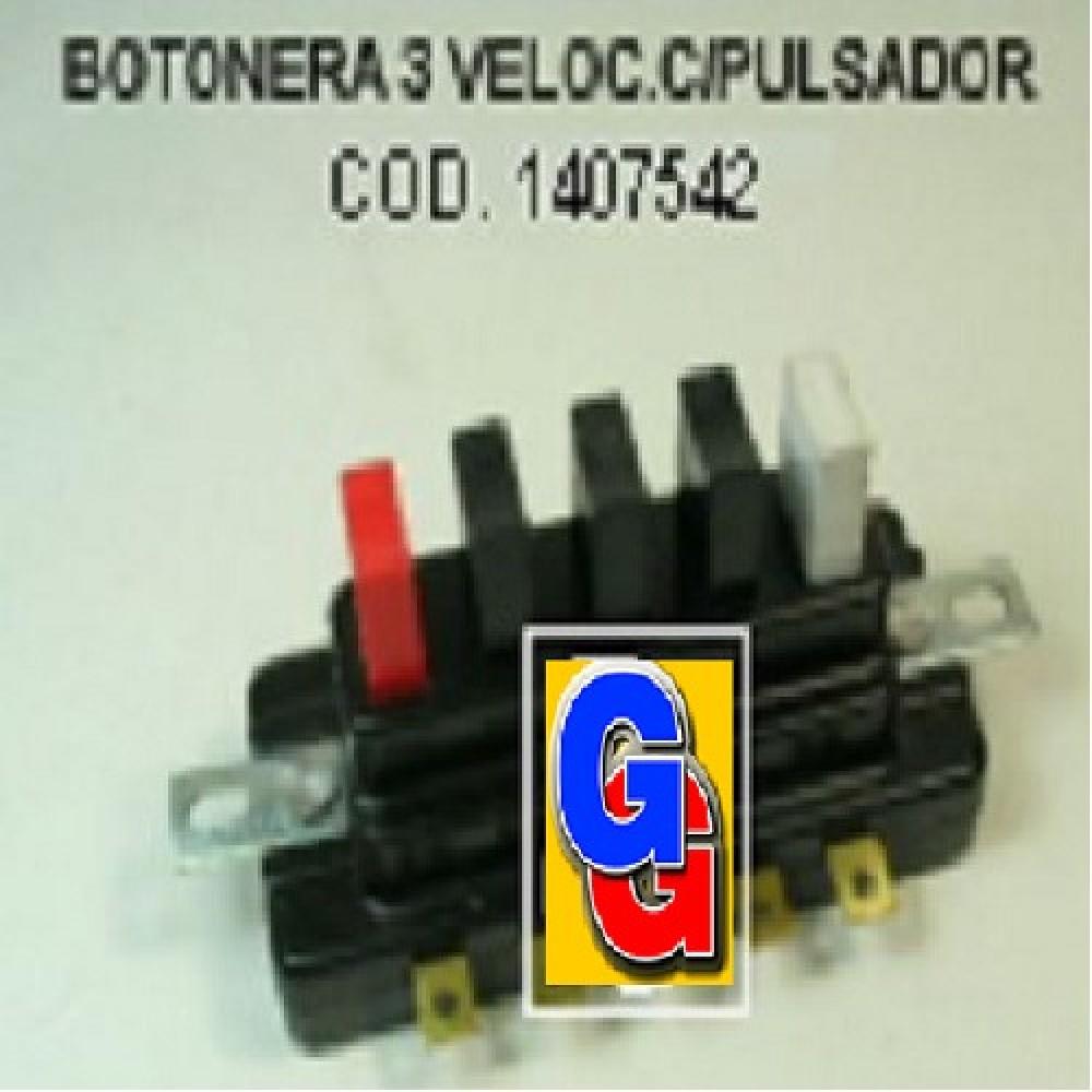BOTONERA LICUADORA 3 VELOCIDADES BAKEL. C/PULSADOR