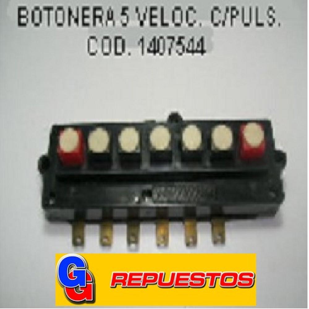 BOTONERA LICUADORA 5 VELOCIDADES C/PULSADOR