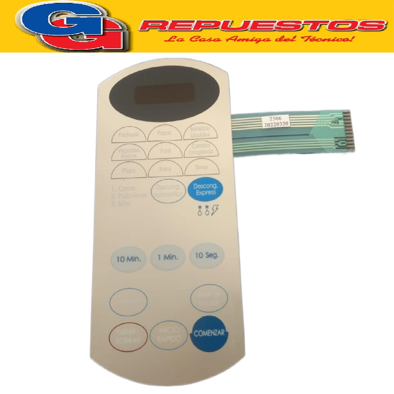 TECLADO MICROONDAS MD14 BGH 18560