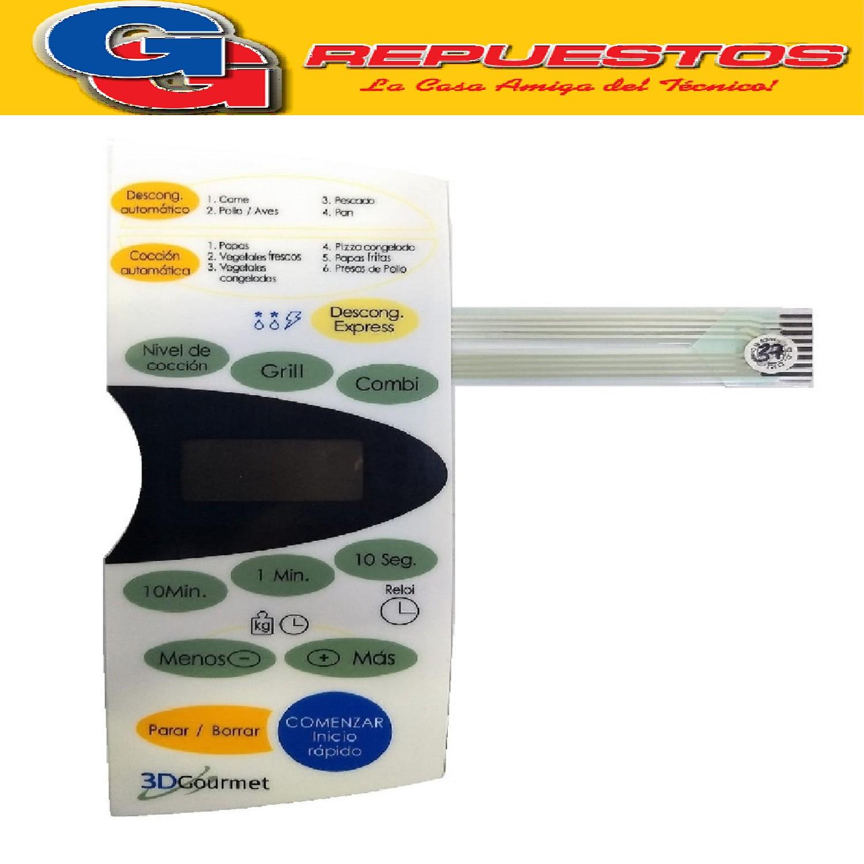 TECLADO MICROONDAS MD158 BGH 24560 3423