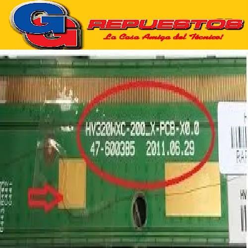 PLACA T COM JVC HV320WXC MODELO: LT-32DA950