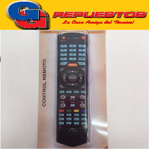 CONTROL REMOTO LCD- LED TOP HOUSE 3835 (KK-Y33IE)