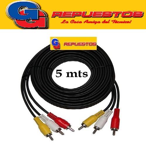 CABLE RCA A RCA X3  5 MTS