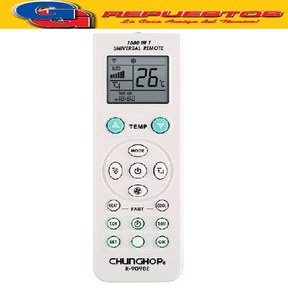 CONTROL REMOTO AIRE ACONDICIONADO K9098E UNIVERSAL