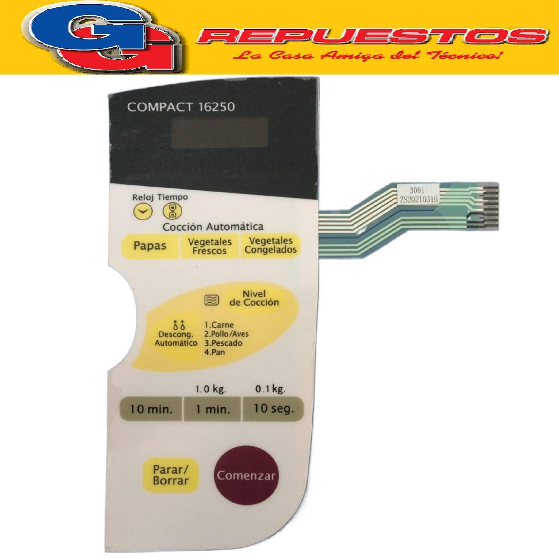 TECLADO MICROONDAS BGH16250 VER2 3DGOURMET MD128