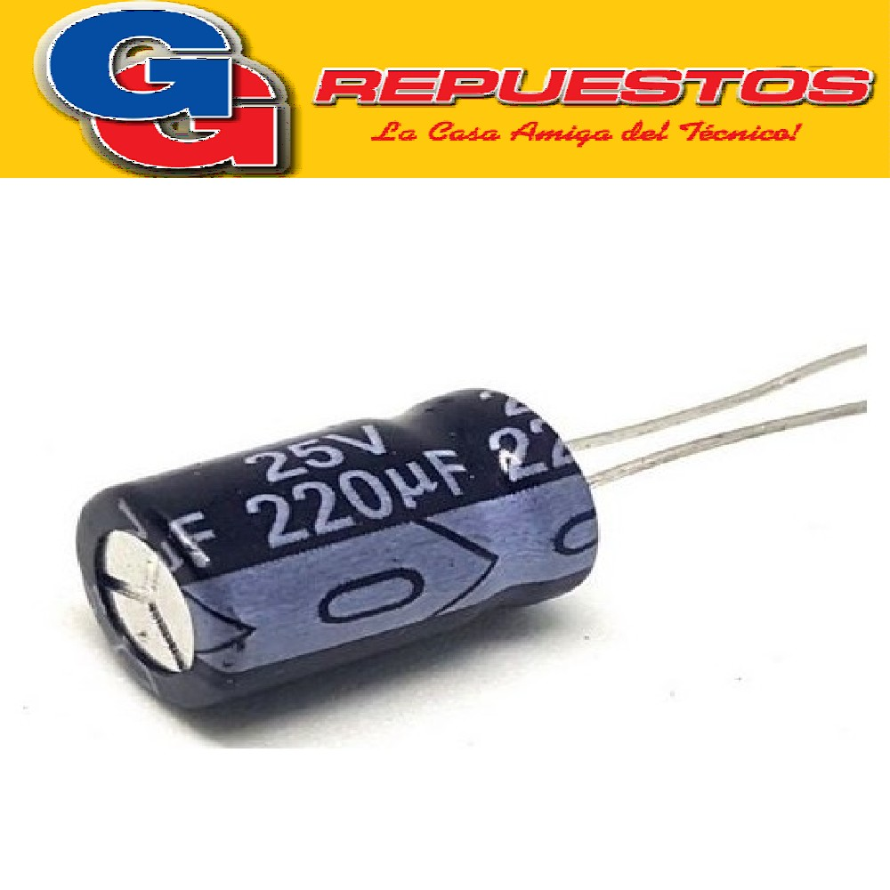 CAPACITOR ELECTROLITICO 220uFX25V PATA LARGA