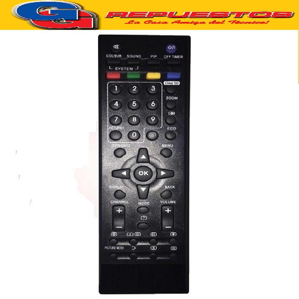 CONTROL REMOTO LCD LED JVC 3801 R6801