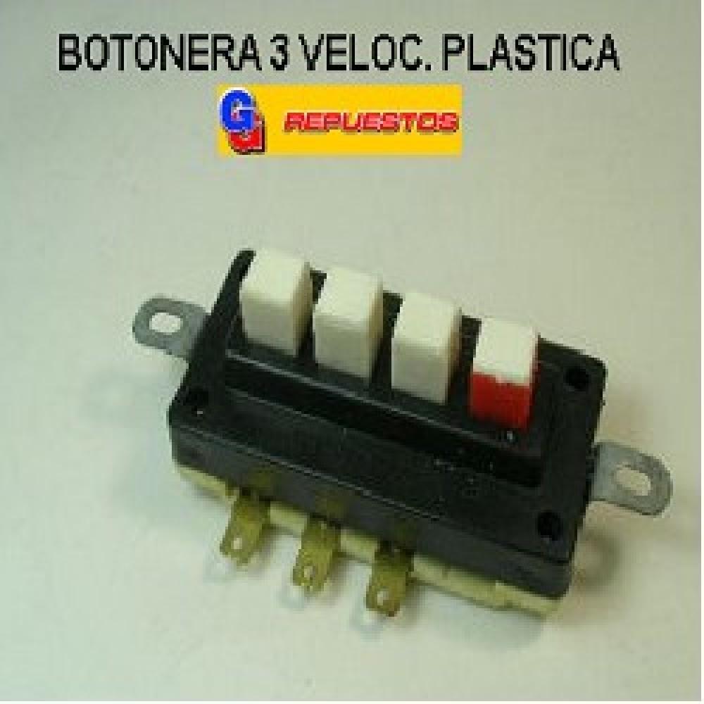 BOTONERA 3 VELOCIDADES PLASTICA LICUADORA