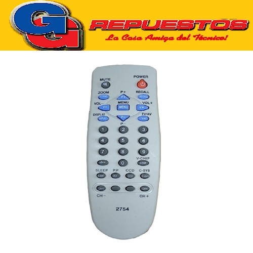 CONTROL REMOTO CHASIS 2754 LINEA VERDE
