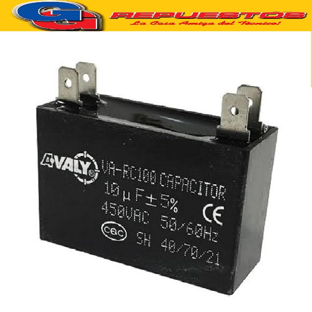 CAPACITOR 10uF X 450V CUADRADO C/PALAS