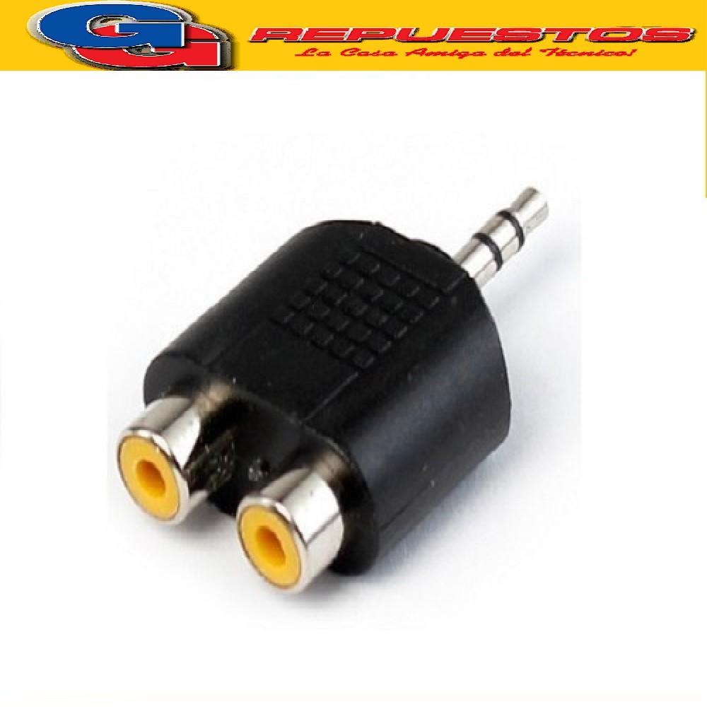 ADAPTADOR PLUG/JACK 3.5 M/ESTEREO A 2 H/RCA