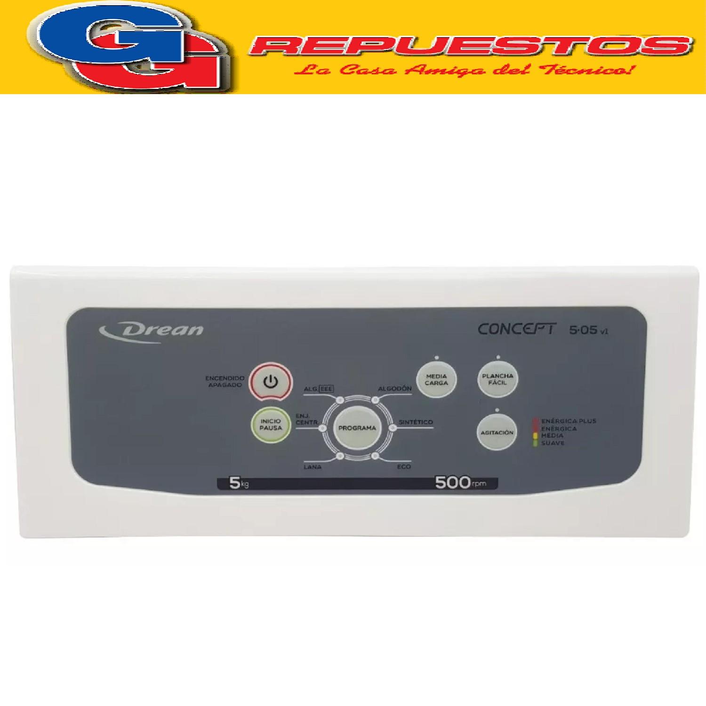 PANEL LAVARROPAS DREAN CONCEPT 5.05 FUZZY V1 C/LAMINA PANEL 709802120 TECLADO