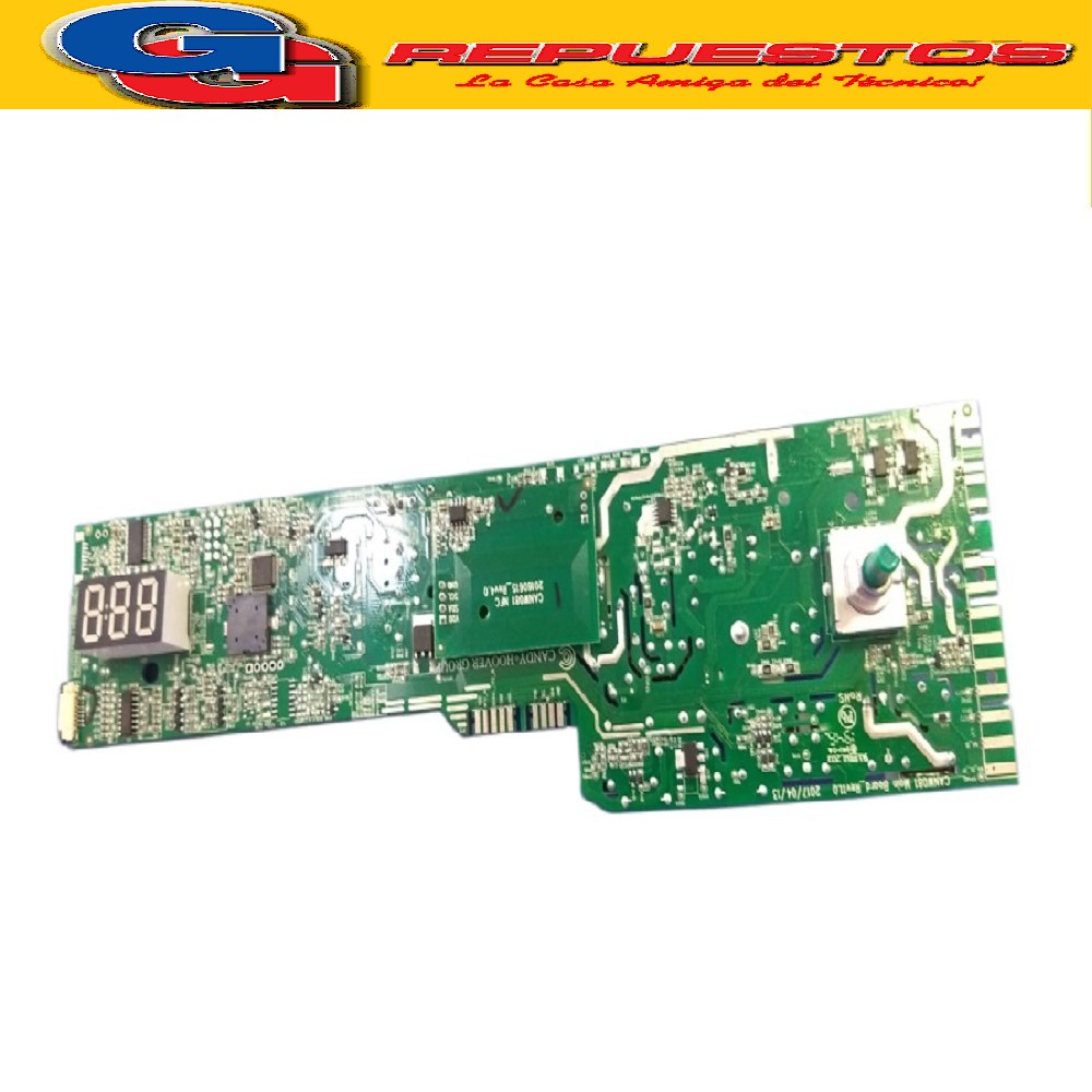 PLACA ELECTRONICA LAVARROPAS CANDY GVS128TC3-12 GRAND PLAQUETA OVITA 35cm diam(PLAQUETA P/DISPLAY DIGITAL ORIGINAL.VISOR TOUCH) UNIPLACA SETEO C/CELULAR LAVARROPA FRONT.56 L - 1200-1300 SILITECH Cod.Origen: 49041627 (CANDY GIAS) serie 31007821 43020392 (CANDY GIAS) Tarjeta Electronica NFC No Programada /Reemplazo 41045071 (CANDY GIAS) Tarjeta Electronica NFC No Programada / Reemplazada 41045072 (CANDY GIAS) Tarjeta Electronica NFC No Programada / Reemplazada