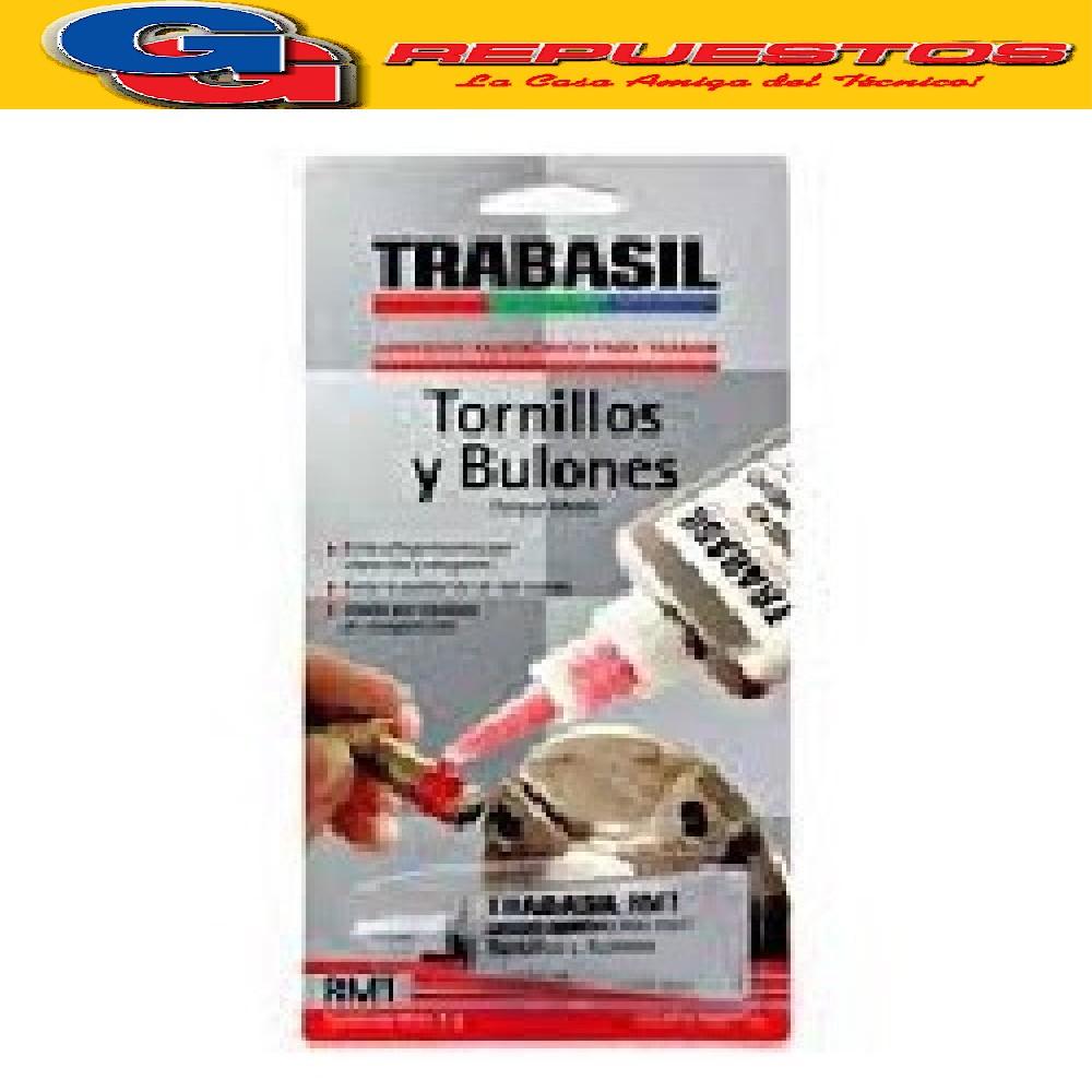 TRABASIL RM1 X 6 GR TRABA ROSCAS TORNILLOS Y BULONES TORQUE MEDIO 0.14 mm  ADHESIVO ANAEROBICO PEGAMENTO