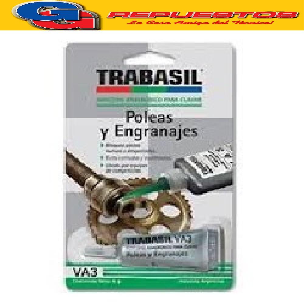 TRABASIL VA3 X 6 GR POLEAS Y ENGRANAJES ALTA RESISTENCIA HOLGURA MAX 0.26 mm  ADHESIVO ANAEROBICO PEGAMENTO