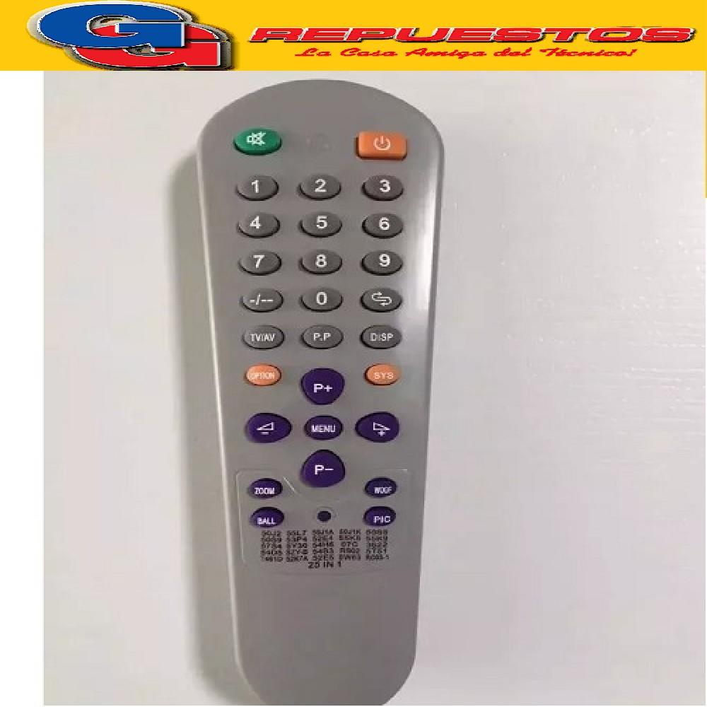 CONTROL REMOTO TV CHASIS UNIVERSAL 55K9