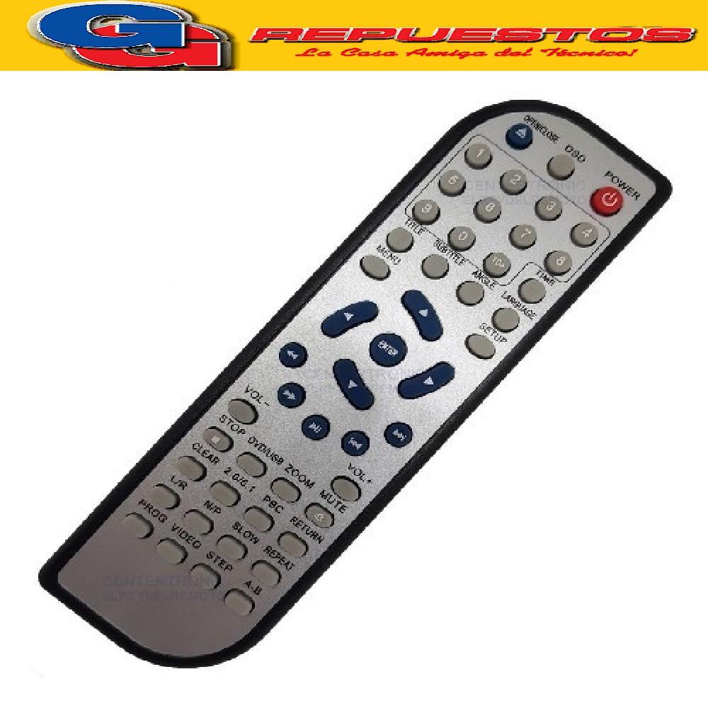 CONTROL REMOTO DVD RANSER D865 (3511) KEN BROWN DVD-210 437DVD DURABRAND