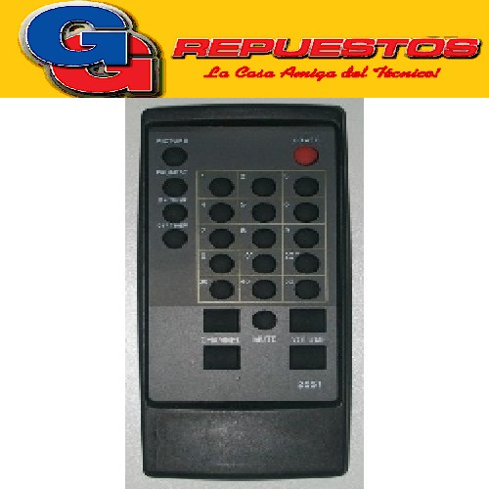 CONTROL REMOTO TV PHILCO - CCE RC27T08 (2551) 021