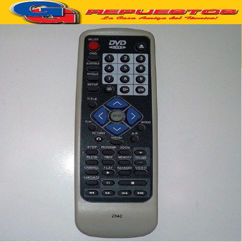 CONTROL REMOTO DVD AUDIOLOGIC 2640 DAIHATSU  MP2124 KZG-201