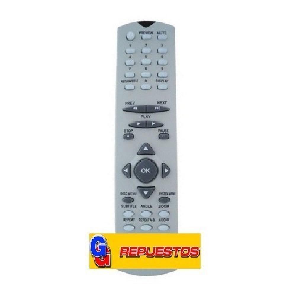 CONTROL REMOTO DVD ADMIRAL/MAGNAVOX D812-DVD812 (2795)