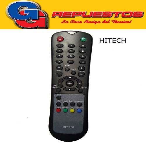 CONTROL REMOTO LCD HI-TECH R6106 (3106) MP1020