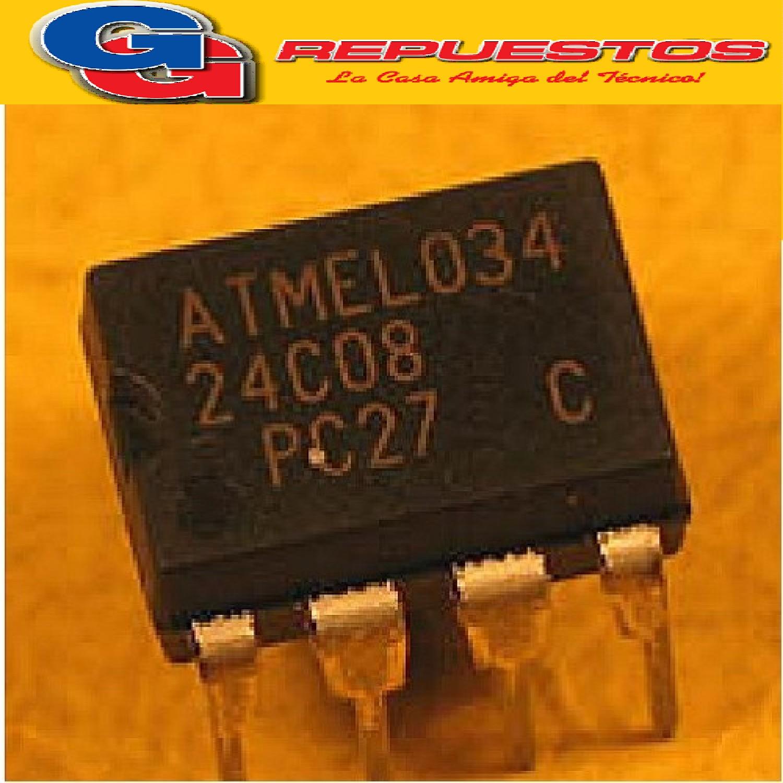 24C08 MEMORIA EEPROM -DIP8 - (5.5V/8KBIT/1MA)