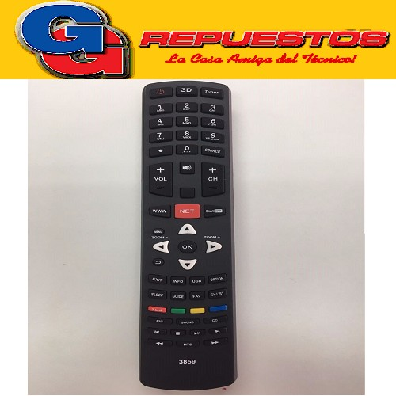 CONTROL REMOTO LED SMART TCL/JVC 3848 TCL / HITACHI / JVC / NOBLEX / SANYO / PHILCO