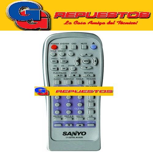 CONTROL REMOTO DVD SANYO 2818