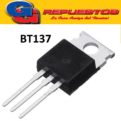 BT137-600F TRIAC  GATILLO SENSIBLE G=35ma