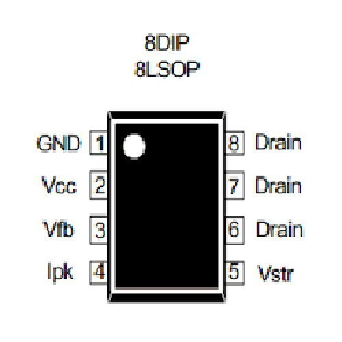 DM0365R / FSQ0365 CIRCUITO INTEGRADO (650V/67KHZ/27W/1.5A/4.5ohms)
