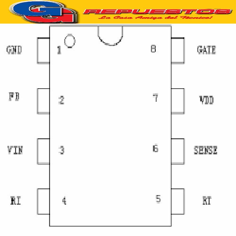 OB2269CP / 2269AP / OB2268 DIP-8 CIRCUITO INTEGRADO (36V/10MA)