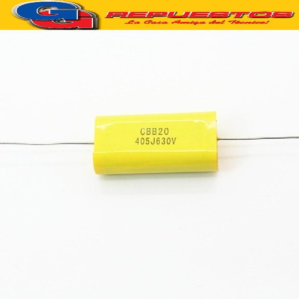CAPACITOR 2uF X 450V CARAMELO-AXIAL-REDONDO