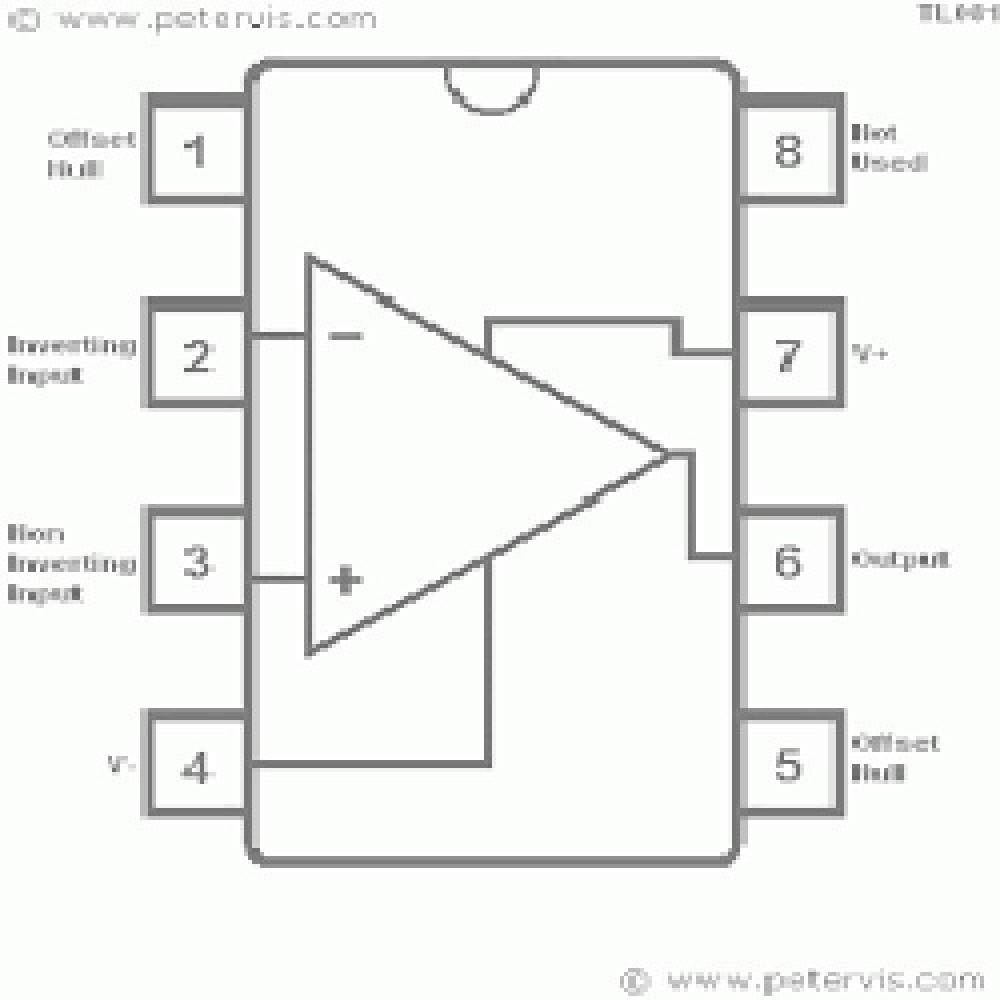 TL081 / 081CN / 081CP CIRCUITO INTEGRADO  (OPERACIONAL SIMPLE)