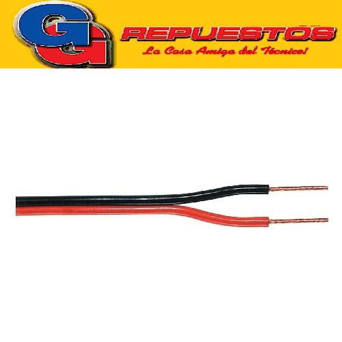 CABLE PARA  BAFLE 2 X 0,50 ROJO/NEGRO PARLANTE PRECIO POR METRO