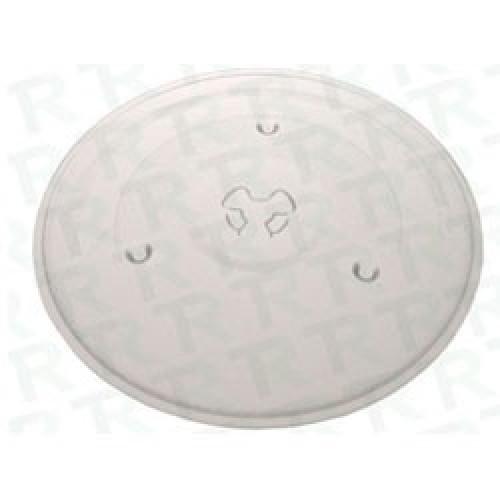 PLATO DE MICROONDAS DIAM.255mm -T/DAEWO-PANASONIC (P/CUPLA PLANA) CON TREBOL
